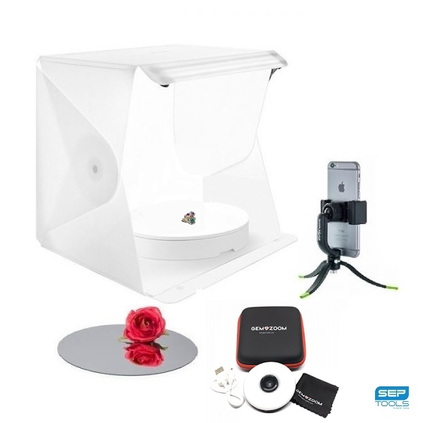 FOLDIO360 DELUXE GEMZOOM JEWELRY STUDIO LIGHTBOX DELUXE BUNDLE